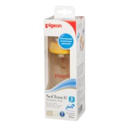 PIGEON PIGEON Бутылочка для кормления SofTouch Перистальтик плюс 240мл PPSU