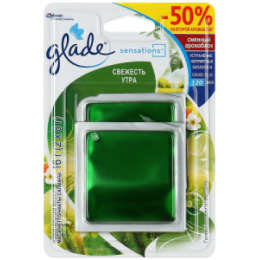 Glade GLADE Освежитель воздуха АромаКристалл сменный Двойной блок Свежесть Утра 16г