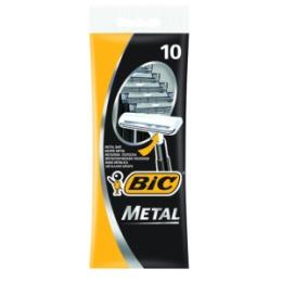 BIC BIC Бритвенный станок с 1 лезвием BIC Metal с защитным металическим покрытием блистер 10 штук