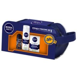 NIVEA NIVEA ПН в косметичке Пена для бритья для чувствительной кожи 200мл Бальзам после бритья 100мл Дезодорант шарик Защита Антистресс 50мл-30%
