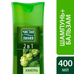 Чистая Линия ЧИСТАЯ ЛИНИЯ Шампунь 2 в 1 на отваре целебных трав 400мл