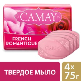 CAMAY CAMAY Мыло твердое Романтик 4х75г