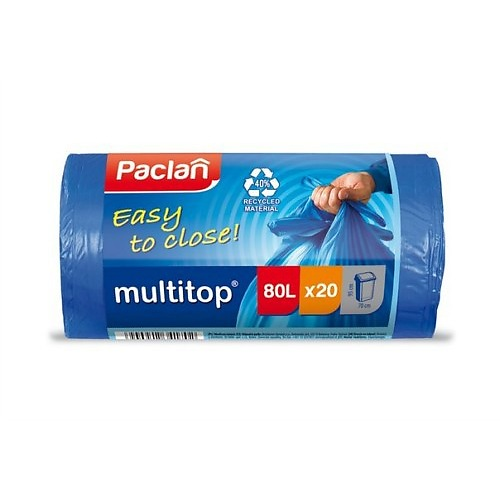PACLAN PACLAN Мешки для мусора синие CLASSIC 80л 20шт