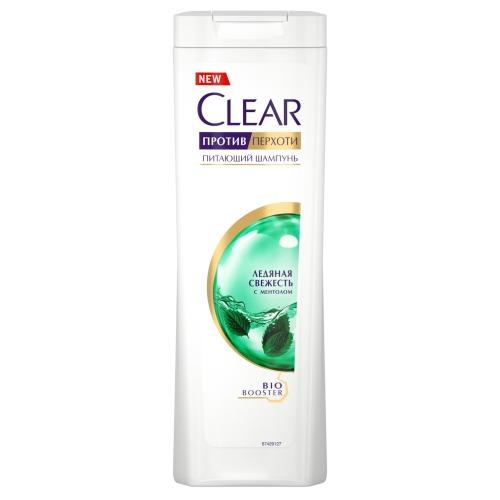 CLEAR CLEAR Шампунь Против перхоти для женщин Ледяная свежесть с ментолом 200мл