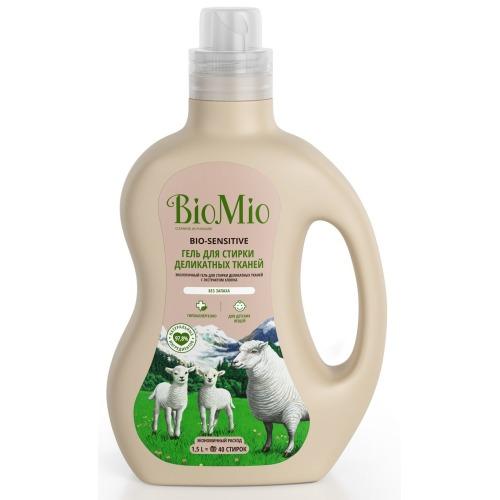 BioMio BioMio Экологичное жидкое средство для стирки деликатных тканей Bio-Sensitive без запаха 1,5л