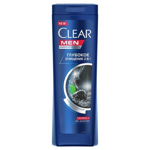 CLEAR CLEAR CARAT Шампунь против перхоти для мужчин 2в1 глубокое очищение 400мл