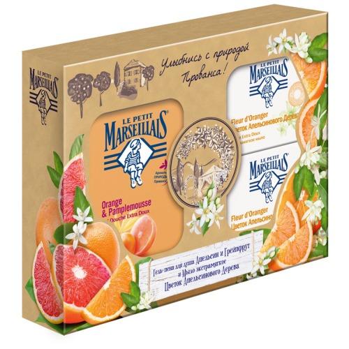 LE PETIT MARSEILLAIS LPM ПН Гель-пена для душа Апельсин и Грейпфрут 250мл мыло Цветок апельсинового дерева 90г мыло Цветок апельсинового дерева 90г