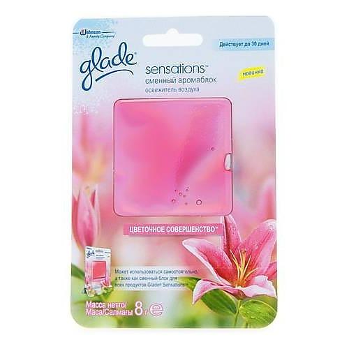 Glade GLADE освежитель воздуха АромаКристалл сменный блок Цветочное Совершенство 8г