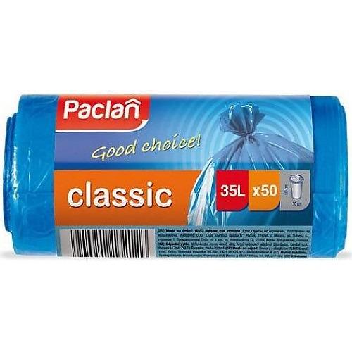 PACLAN PACLAN Мешки для мусора синие CLASSIC 35л 50шт