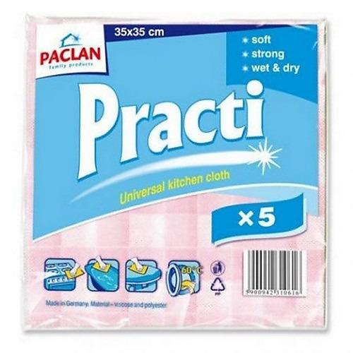 PACLAN PACLAN Салфетка универсальная для сухой и влажной уборки Practi 33*35см 5шт в ассортименте
