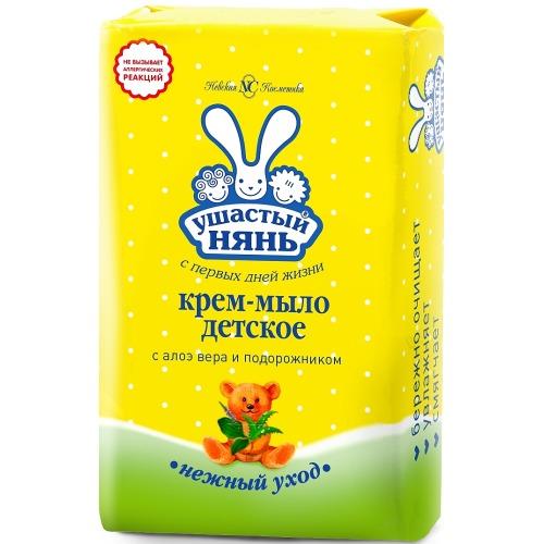 Ушастый нянь УШАСТЫЙ НЯНЬ Туалетное мыло детское Алоэ 90 гр