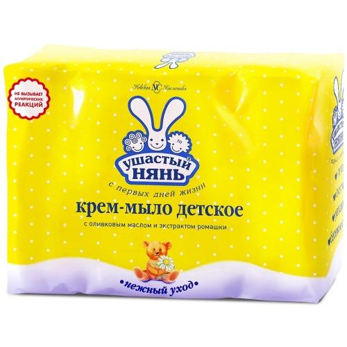 Ушастый нянь УШАСТЫЙ НЯНЬ Крем-мыло с Ромашкой 4*100гр