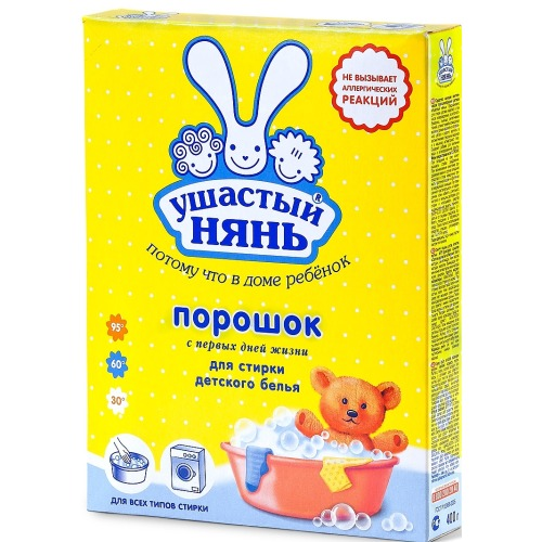 Ушастый нянь УШАСТЫЙ НЯНЬ Стиральный порошок 400 гр