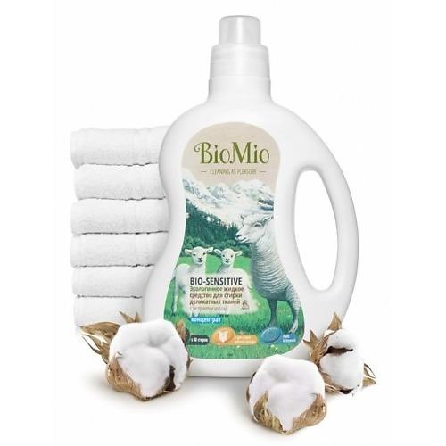 BioMio BioMio Экологичное жидкое средство для стирки деликатных тканей Bio-Sensitive Концентрат экологичный с экстрактом хлопка без запаха 1,5л