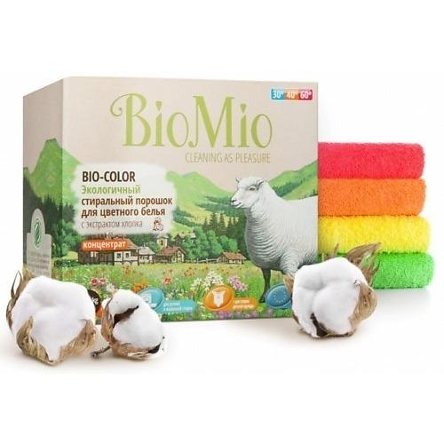 BioMio BioMio Экологичный стиральный порошок для цветного белья Bio-Color концентрат с экстрактом хлопка без запаха 1500гр