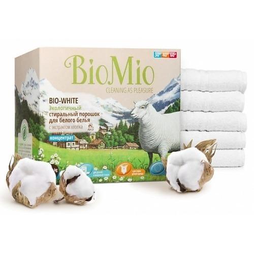 BioMio BioMio Экологичный стиральный порошок для белого белья Bio-White концентрат с экстрактом хлопка без запаха 1500гр