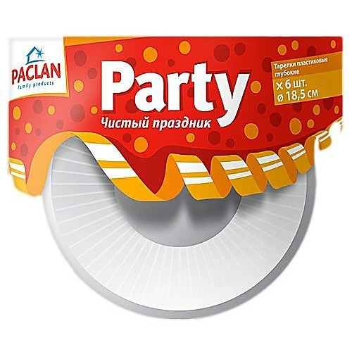 PACLAN PACLAN Party Тарелка глуб. д/супа/салата 185мм 6штук/уп.