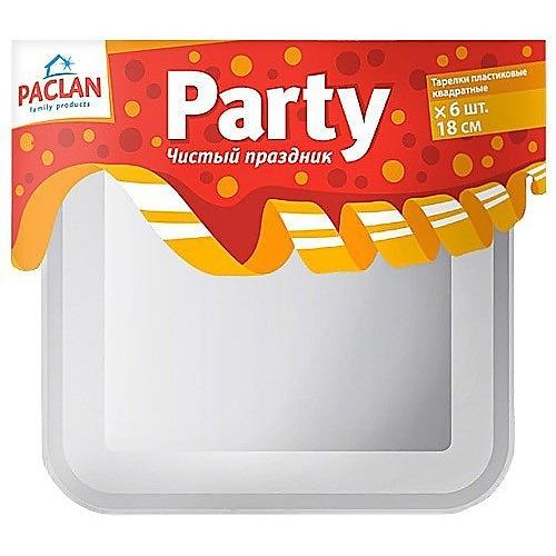 PACLAN PACLAN Party Тарелка из полистирола квадратная 180мм 6шт