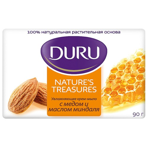 Duru DURU NATURE'S TREASURES Мыло Мед и Миндаль 90г