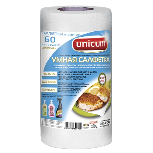 UNICUM UNICUM Умная салфетка 60 листов в рулоне 24х30