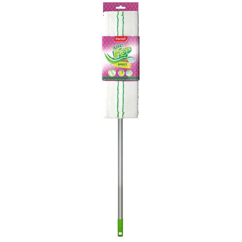 PACLAN PACLAN Швабра Green Mop с плоской насадкой из микрофибры и телескопической ручкой 1 шт