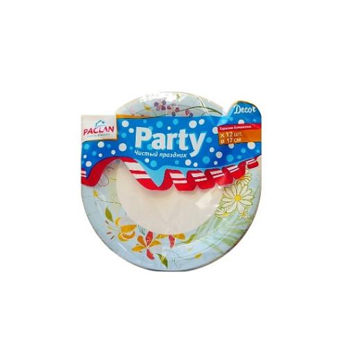 PACLAN PACLAN Party Тарелка бумаж Decor цветная 230мл 12шт/уп