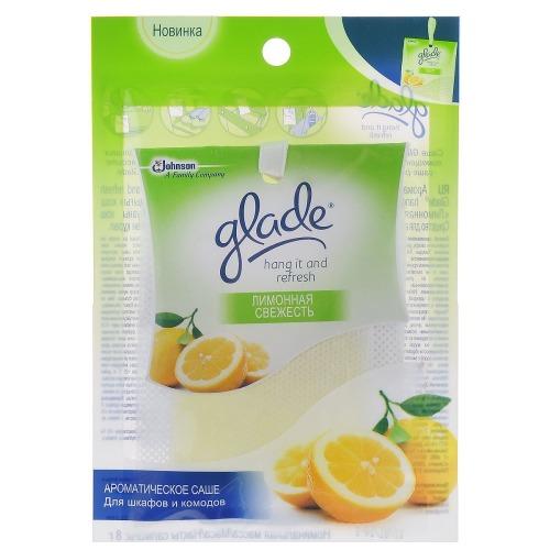 Glade GLADE Саше ароматическое Hang it and Refresh Лимонная свежесть 8гр