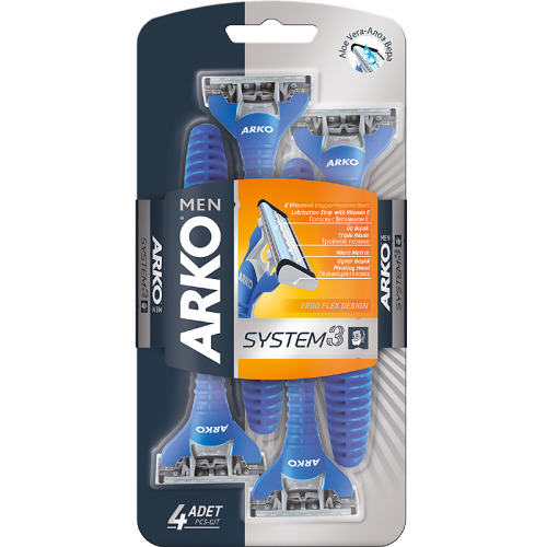 ARKO ARKO MEN Станок для бритья System3 3 лезвия 4 шт