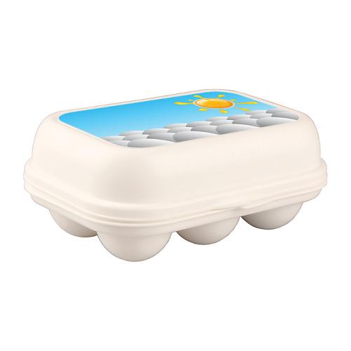 БЫТПЛАСТ Бытпласт Контейнер для яиц с декором 172х130х75 мм