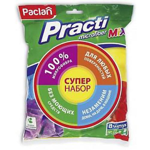 PACLAN PACLAN Practi Mix Набор универсальных хозяйственных салфеток из микрофибры 8 шт