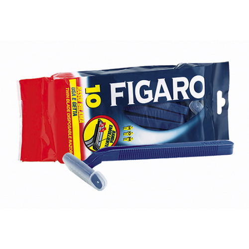 FIGARO FIGARO Станки для бритья с двойным лезвием и смягчающей полоской 10 шт. в уп.