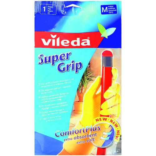 Vileda ВИЛЕДА Перчатки Супер Грип с хлопком M