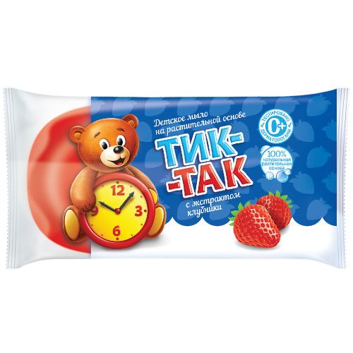 Тик-так СВОБОДА Мыло Тик-так с экстрактом клубники в обертке 75 г