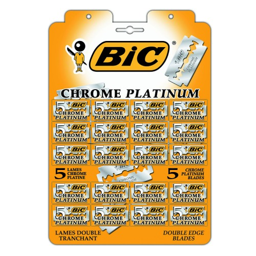 BIC BIC Лезвия для станка Chrome Platinum 20 штук по 5 лезвий на карте