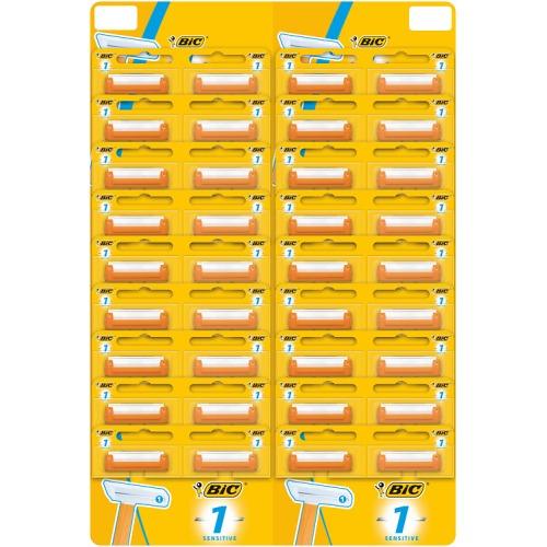 BIC BIC Бритвенный станок с 1 лезвием BIC1 Sensitive для чувствительной кожи на карте 36 штук