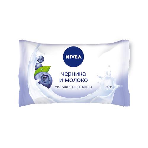 NIVEA NIVEA Мыло увлажняющее Черника и молоко 90г