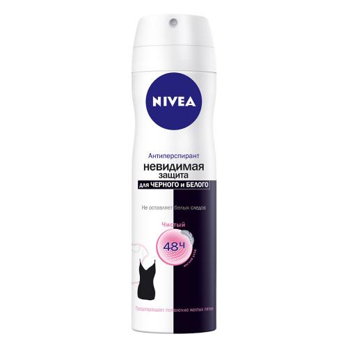 NIVEA NIVEA Дезодорант спрей женский Невидимая защита д/черного и белого Clear 150мл