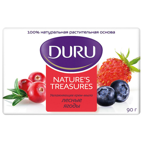 Duru DURU NATURE'S TREASURES Мыло Лесные ягоды 90г скидка
