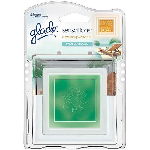 Glade GLADE Освежитель воздуха АромаКристалл основной блок Океанский оазис 8г