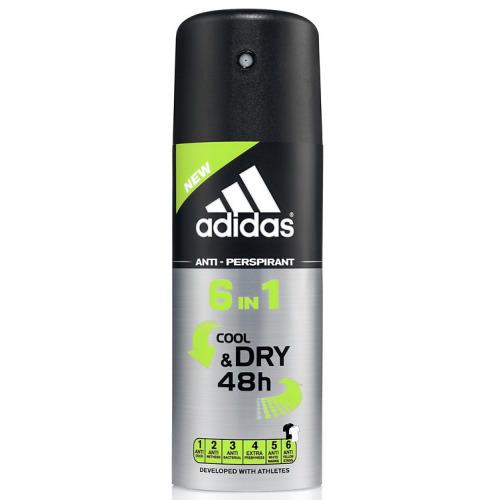 ADIDAS Аdidas 6in1 дезодорант-антиперспирант спрей для мужчин 150 мл