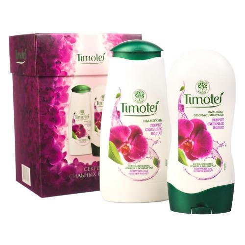 Timotei ПН 16-17 TIMOTEI Секрет сильных волос шампунь 250мл бальзам-ополаскиватель 200мл