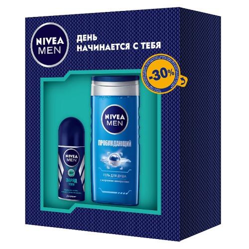 NIVEA NIVEA ПН Дезодорант шариковый Заряд утра 50 мл Гель для душа Пробуждающий 250мл 30% скидка