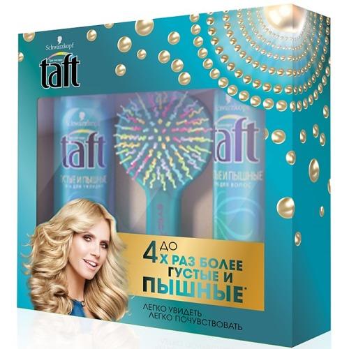 Taft ПН 2017 Taft Густые и Пышные 225мл Лак для волос, TAFT Пена для укладки, Расческа-радуга с цветными щетинками