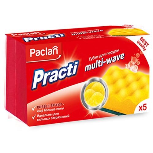 PACLAN Paclan Practi Multi-Wave Губки для посуды 5 шт