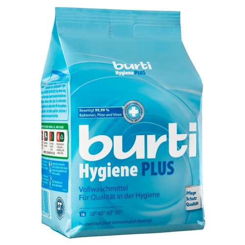 BURTI BURTI Hygiene Plus Универсальный cтиральный порошок для белого белья с дезинфицирующим эффектом 1,1 кг