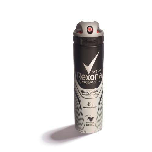 Rexona REXONA Антиперспирант аэрозоль мужской Невидимый на черном и белом 150мл