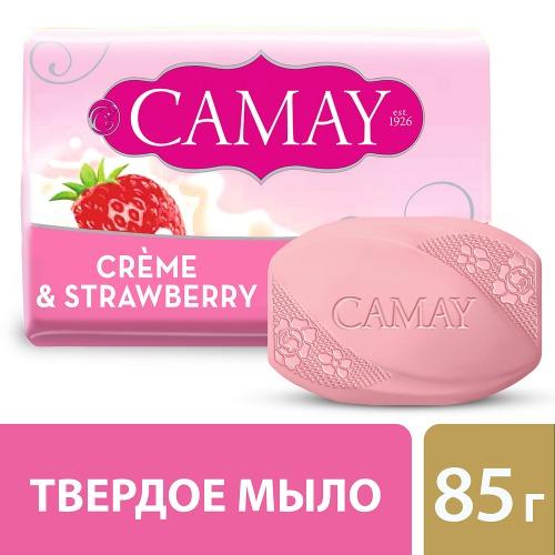 CAMAY CAMAY Мыло туалетное Клубника со сливками 85г