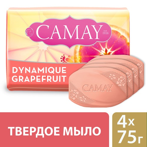 CAMAY CAMAY Мыло твердое Динамик 4х75г