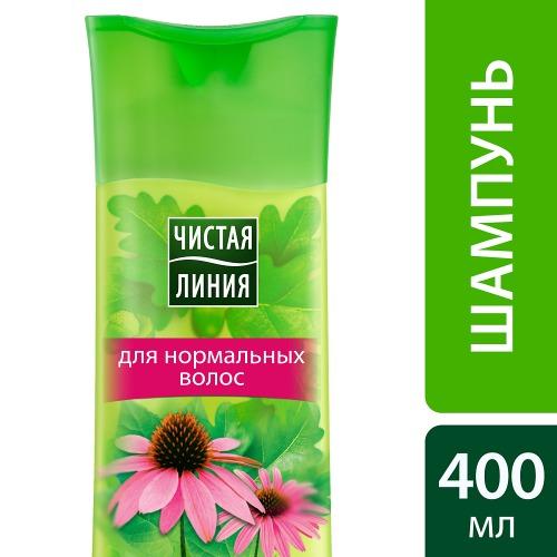 Чистая Линия ЧИСТАЯ ЛИНИЯ Шампунь для нормальных волос и кожи головы Укрепление и Уход 400мл