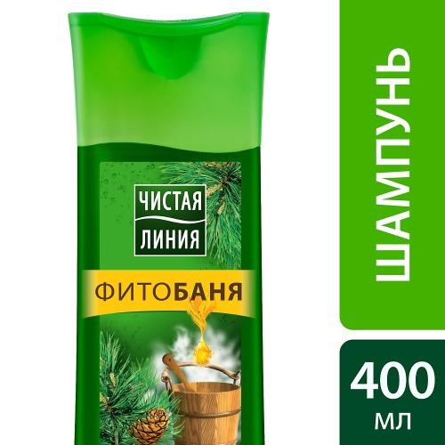 Чистая Линия ЧИСТАЯ ЛИНИЯ Шампунь Фитобаня для всех типов волос 400мл